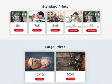Photo Printing Website