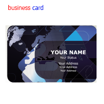 This is just a business card.