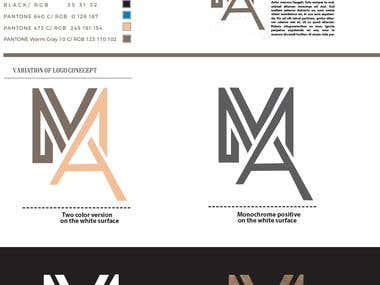 LOGO BRANDING FOR COMPANY WITH INITIALS MA