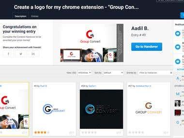 group convert logo winner