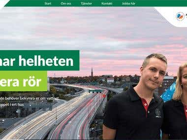 Customer facing website of an energy client