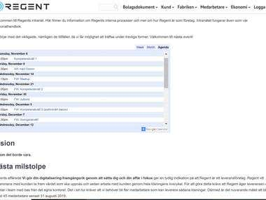 Intranet site for a recruitment firm