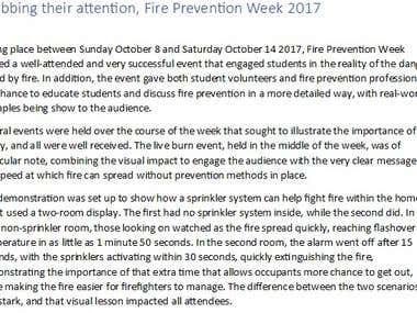 Grabbing their attention, Fire Prevention Week 2017