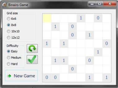 A Binairo game made in Delphi