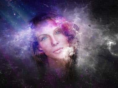 """Fotomontaje """"Galaxia"""""""