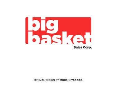 Minimal Logo Design for Big Basket Sales Corp.