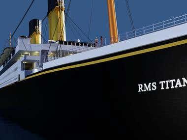 Real-Life Titanic Model for VR