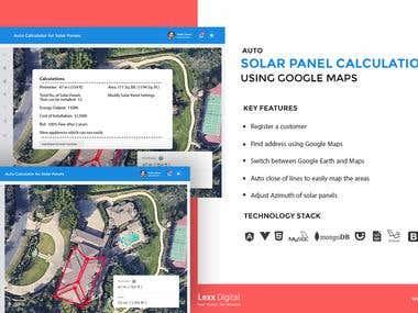 Auto Solar Panel Calculation App Using Google Maps