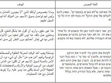 Translation from Hebrew to Arabic