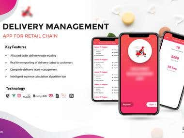 Delivery Management App For Retail Chain