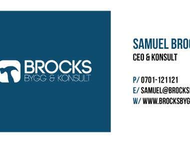 Brocks Bygg - Logotype & Visitcard