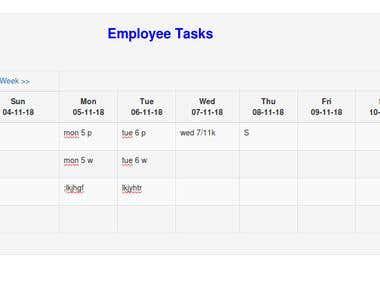 Custom employee schedule calendar