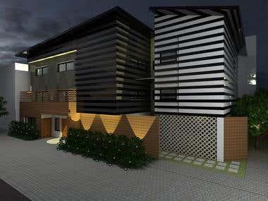 triplex - Villa design ( design + 3 D modeling + rendering)