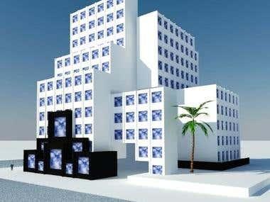 Hotel concept exterior