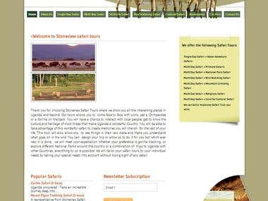 Website Design and developed www.stoneviewsafaris.com