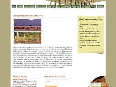 Website Design and developed www.stoneviewsafaris.com