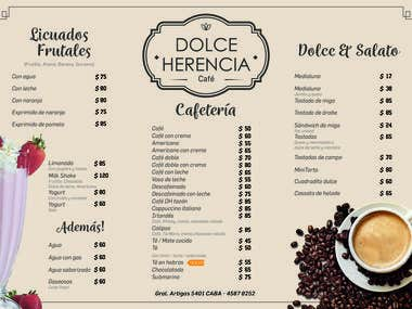 Dolce Herencia menu