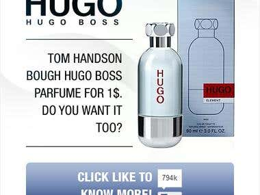 Hugo Boss Facebook application
