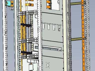 3D SUB-DISTRIBUTION BOARD CUBICLE DESIGN