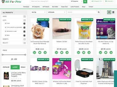 Pet site- E-commerce