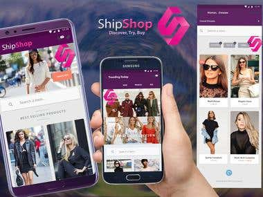 'ShipShop' for iOS and Android and e-Commerce platform