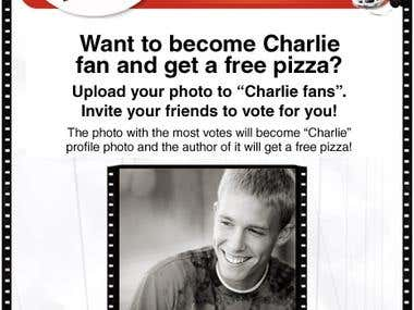 Charlie Pizza facebook application