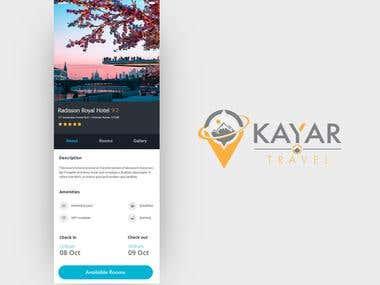 Travel agency app UI