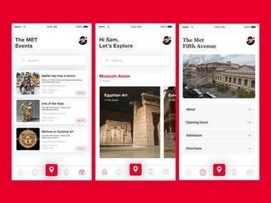 The met museum app UI