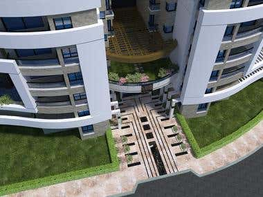 Residential building entrance design