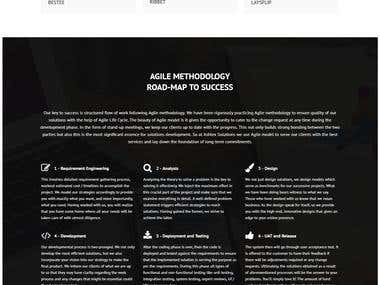 Ashtex Solutions Website (PSD to HTML)