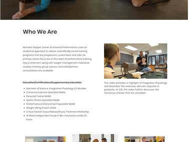 Hopper Training Website design