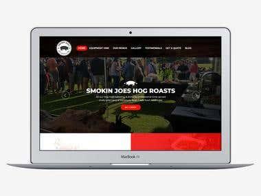 Smokinjoeshogroasts.com based on Wordpress