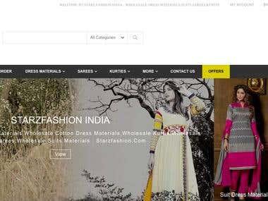 Starzfashion.com - Dress Materials E-Commerce Site