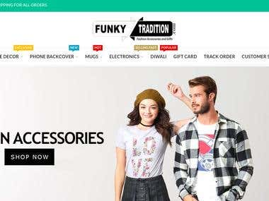 FunkyTradition - E-Commerce website made using WooCommerce