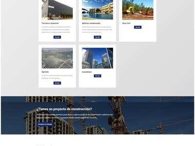 Página web constructora H.Terrats