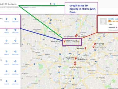 Google Maps 1st Ranking in Atlanta (USA) Zone
