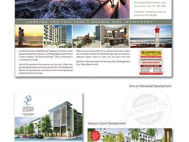 Real Estate advert and brochure