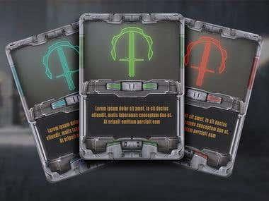 Sci-Fi card design