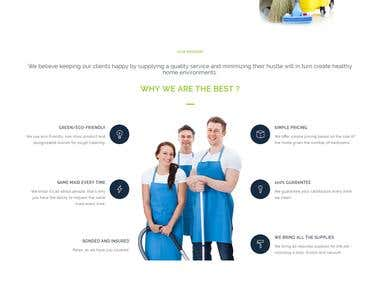 Online Home Cleaning Website Design, Website Development