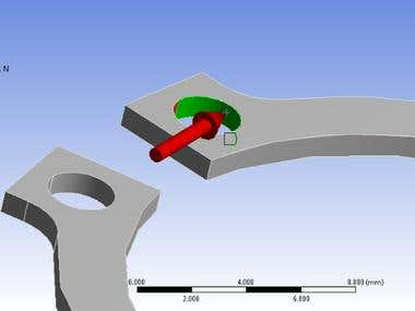 Simulation of Circlip (Retaining Spring)