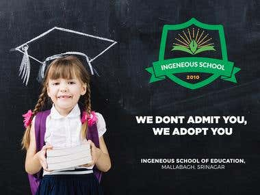 Branding - Banner Design for Ingenious School
