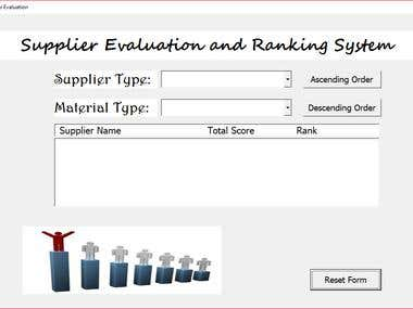 Supplier Filtering and Sorting