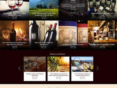 Online Wine Website