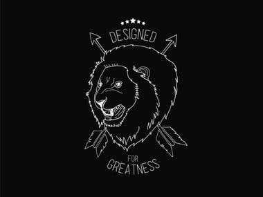 Lion Street Style Line Art Design