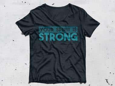 Motivational t-shirt design