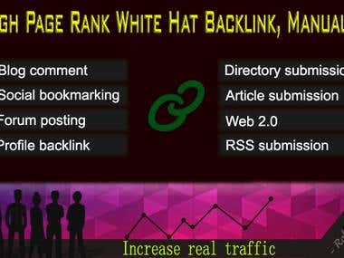 SEO: High Page Rank White Hat SEO Backlink, Manually