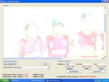 GPU Based OpenCL Image Processing