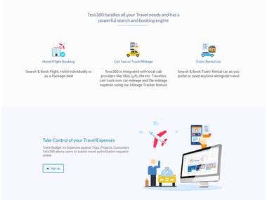 Travel Solution Landing Page