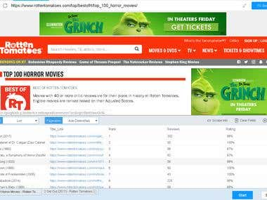 Web Scraping for thousands movies information