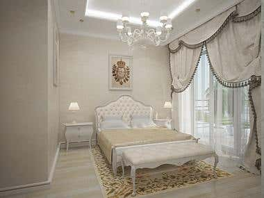 Classic room in 3d